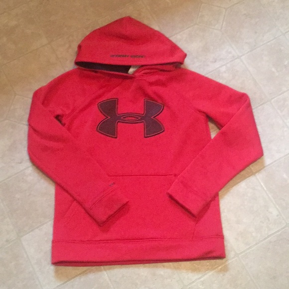 487a63aed Boys Youth Medium Under Armor sweatshirt Red. M_5c018b619519962644fdaa78